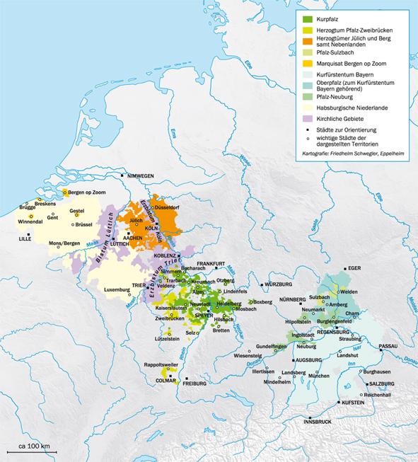 Karte Carl Theodor